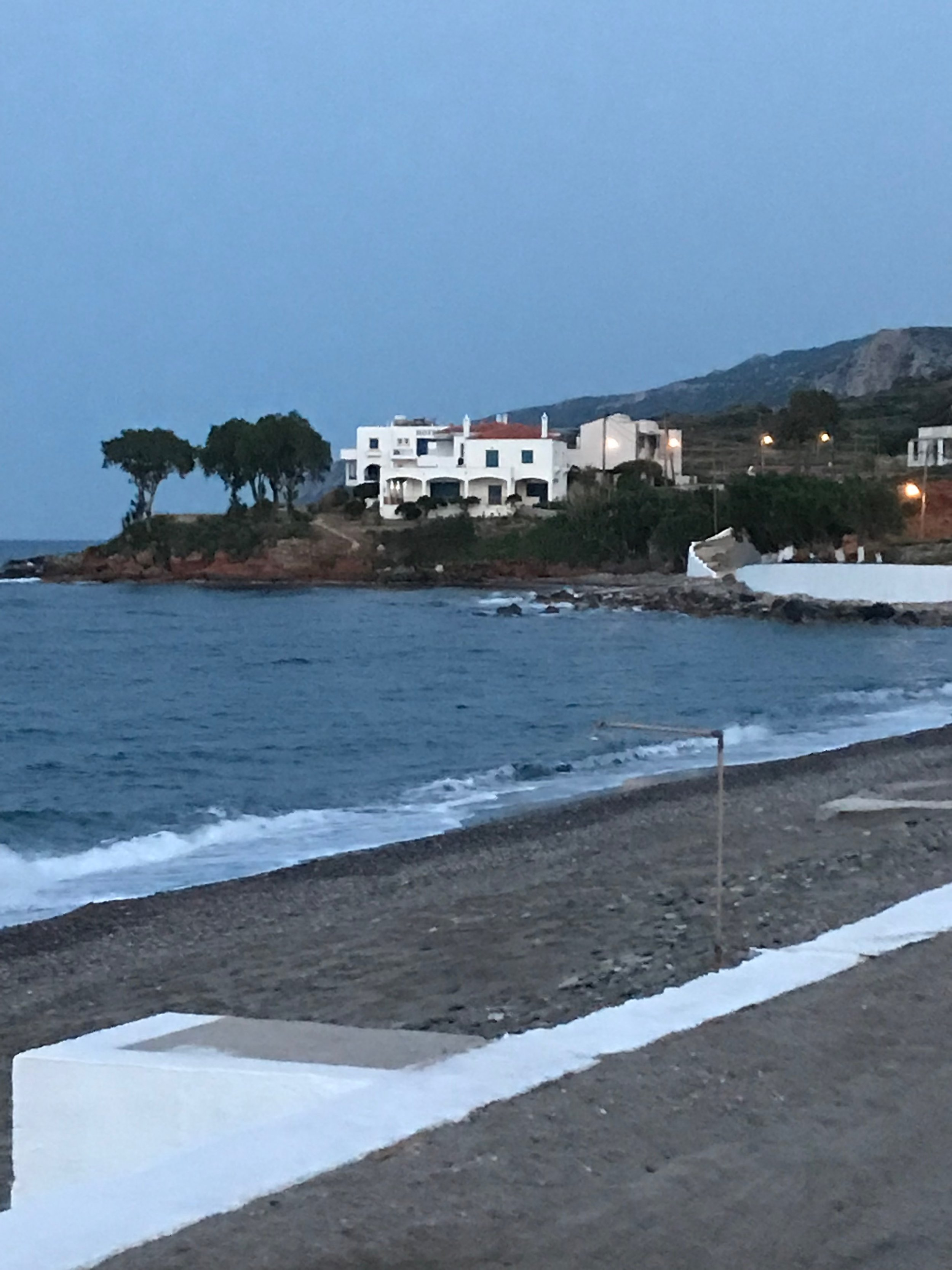 View of our hotel from local beach