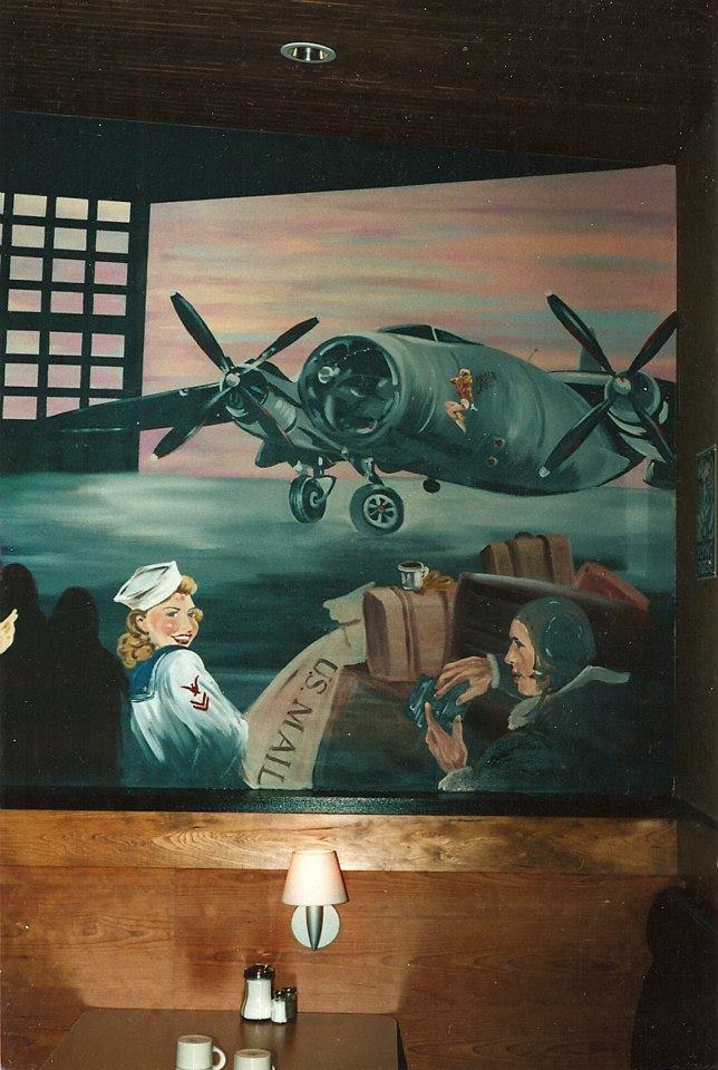 Mural in the Seattle Crystal Creek Cafe' in MillCreek, WA.
