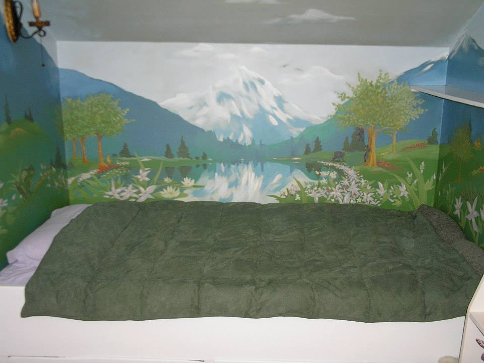 I was asked to do a mural in Seattle for this great children's space.