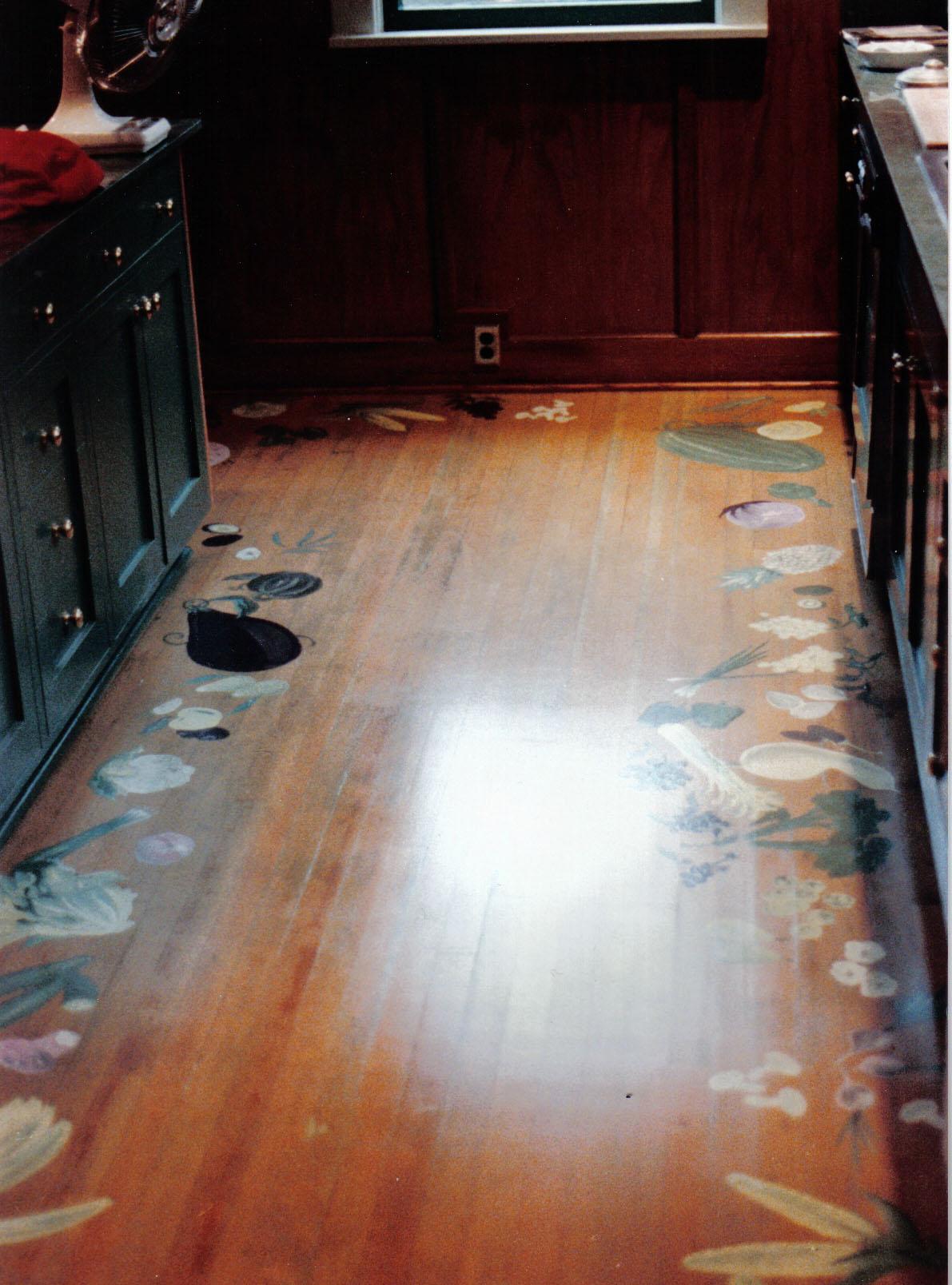 Seattle home kitchen floor.