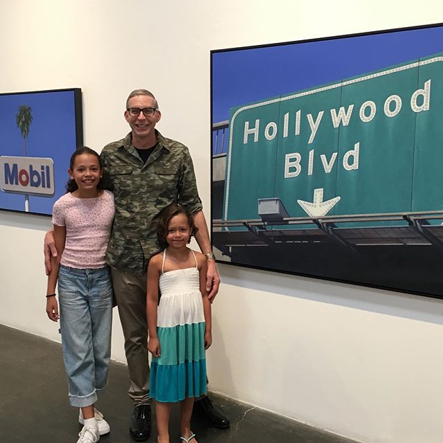 Thanks to everyone who came to @skidmorecontemporaryart and @bergamotsantamonica last night. One of the best openings yet. A special thanks to my two favorite young fans and family. #artopening #art #oilpainting #artlife