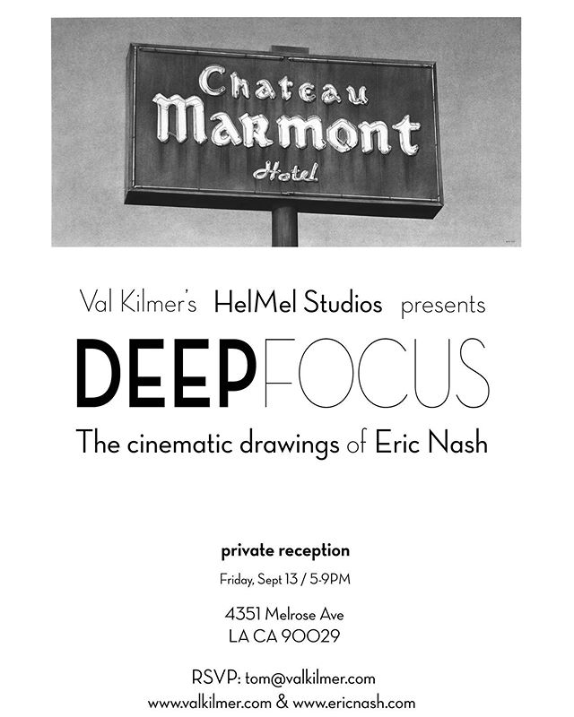 Join us for a special private art event presented by Val Kilmer's @helmelstudios at 4351 Melrose in Hollywood next Fri. Sept. 13th from 5-9 p.m. of my cinematic charcoal drawings inspired by Los Angeles. I am honored to be working with Val, an incredibly passionate, dimensional and talented artist on many levels. His HelMel Studios is a new art and performance space focused on showcasing and connecting artists in the LA community. It should be an awesome event. Please RSVP to tom@valkilmer.com @valkilmerofficial #valkilmer #helmelstudios #artists #losangelesartists #losangeles #hollywood #charcoaldrawing