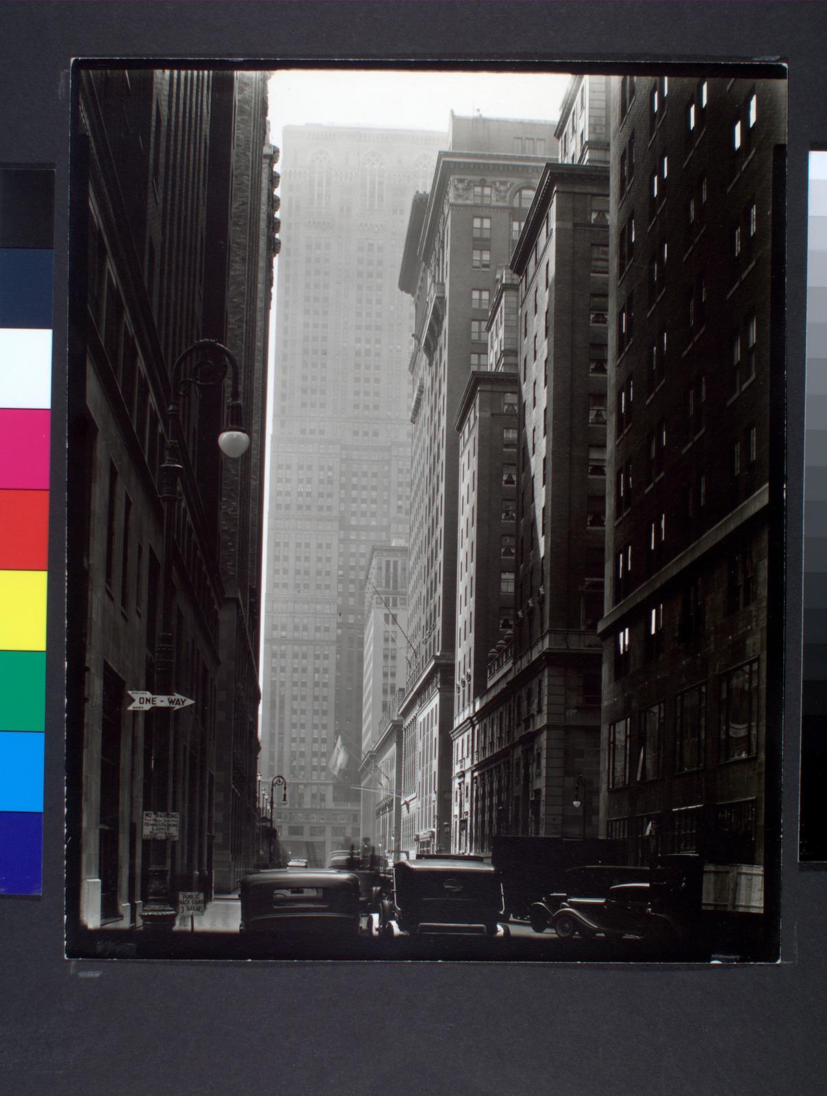 Vanderbilt, From E. 46th Street, Manhattan (1935) | Abbott Berenice