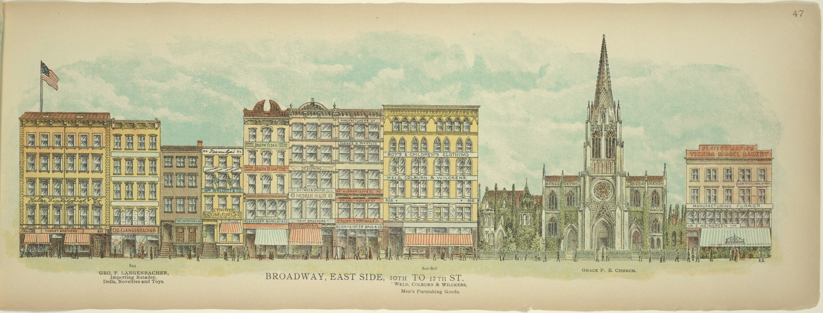 Broadway, East Side. 8th to 10th St. (1889)