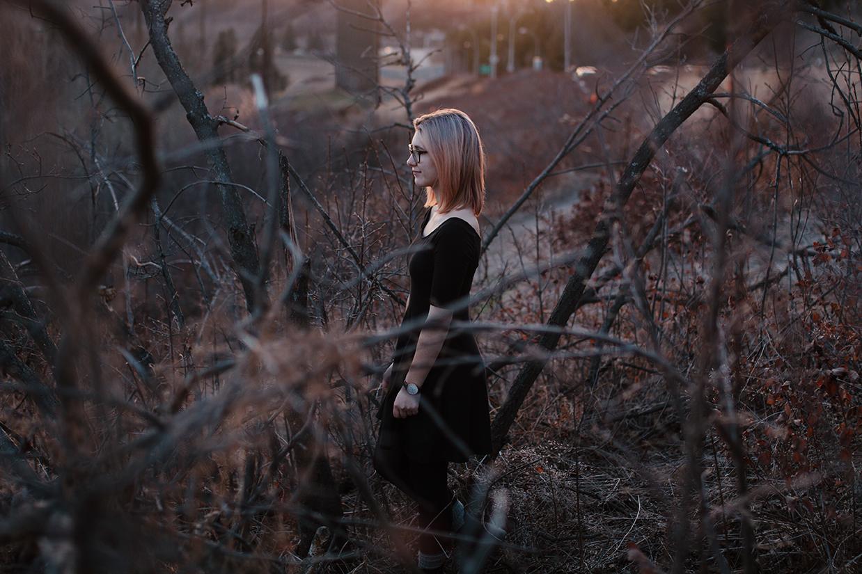 Moody Portrait, Sunset, St. Albert Photographer