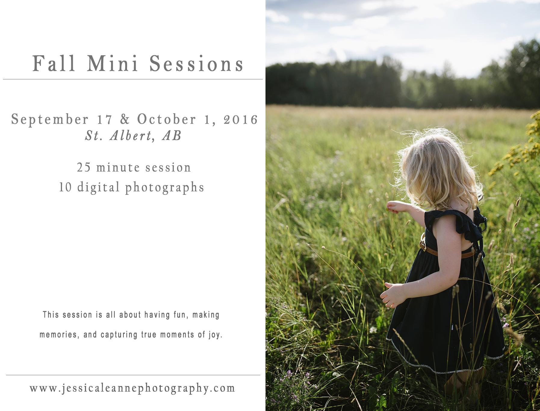 Fall Mini Sessions 2016, Jessica Leanne Photography, St. Albert AB