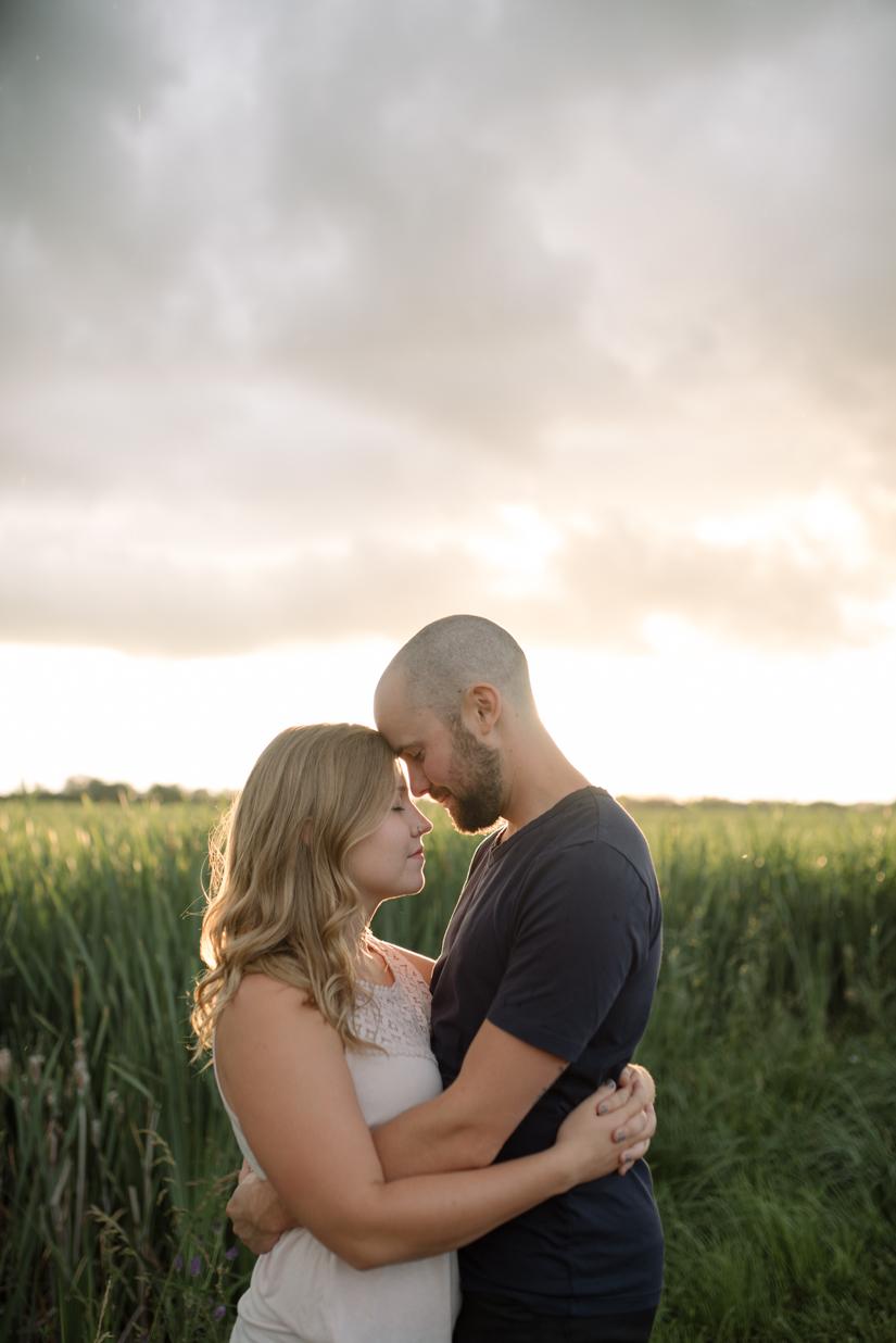 Sunset Engagement Photography, Hug, Jessica Leanne Photography