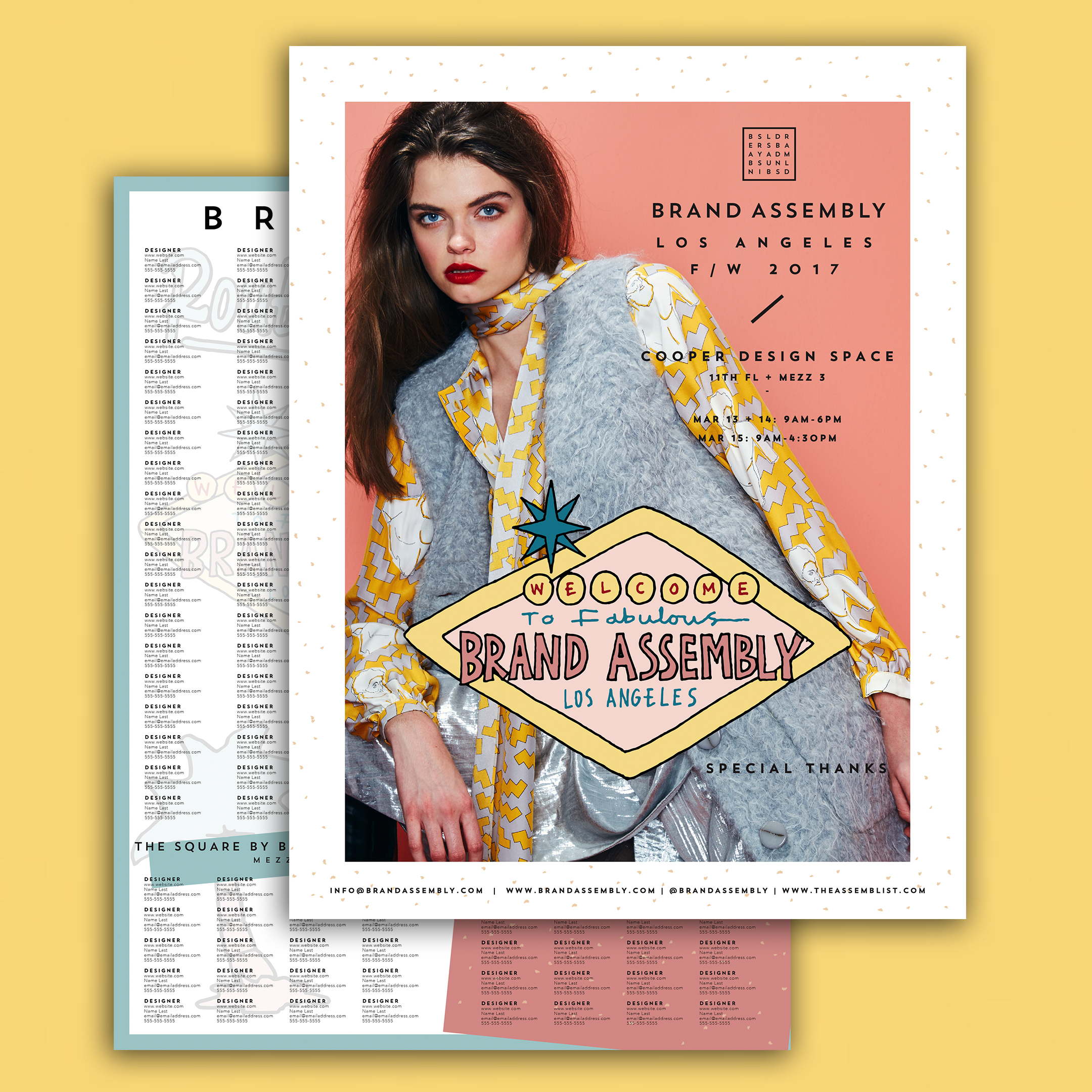 BRAND ASSEMBLY SHOW GUIDE + POSTER