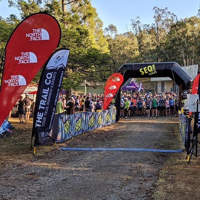 With our final finisher quite literally crawling across the line, that's a wrap on Rd 1 of the South East Queensland Trail Running Series supported by The North Face.  Thanks so much for joining us and having a little run and a lot of fun! We'll get results up on the website later today and watch your inbox tomorrow for a link to your race pics from MOW Foto. Other than that, put your feet up and enjoy the rest of your Sunday - you earned it!  #seqtrailseries #thetrailco #thetrailexperts #thenorthface #trailrunning #running @thetrail.co @trailiens @the_coconut_cowboys @thenorthface_aunz