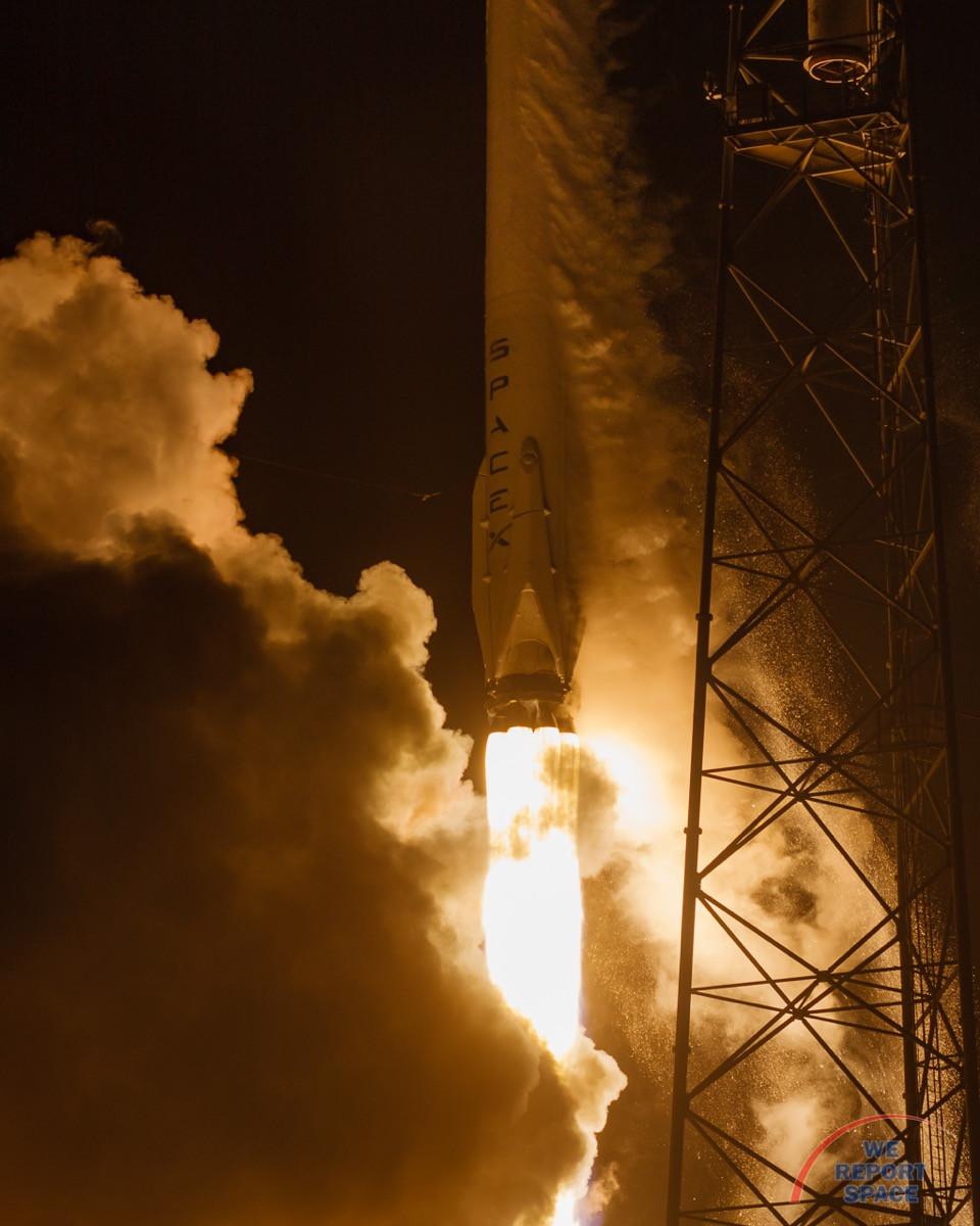 SpaceX Falcon 9 Orbcomm OG2-M2 Launch, December 21, 2015.  Photo credit: Jared Haworth