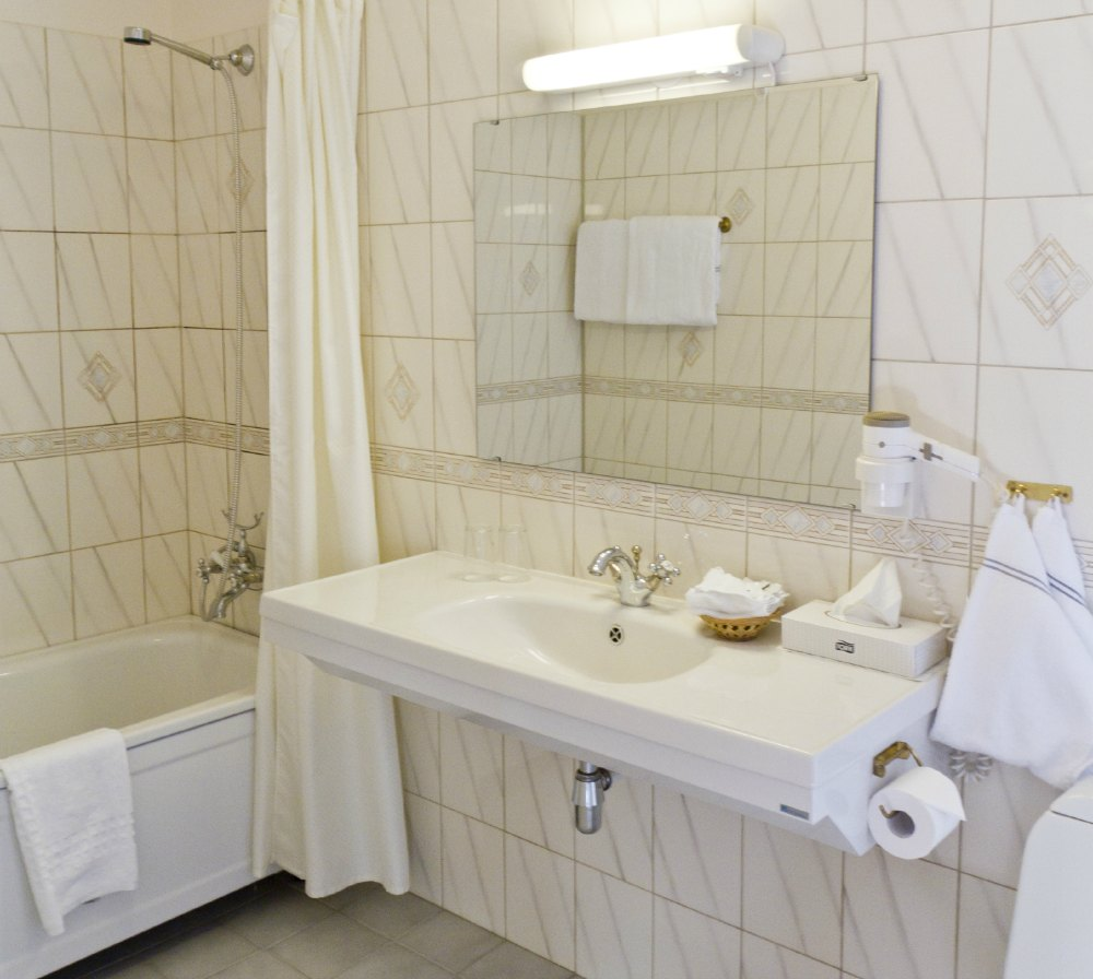 Historic room - modern bathroom.