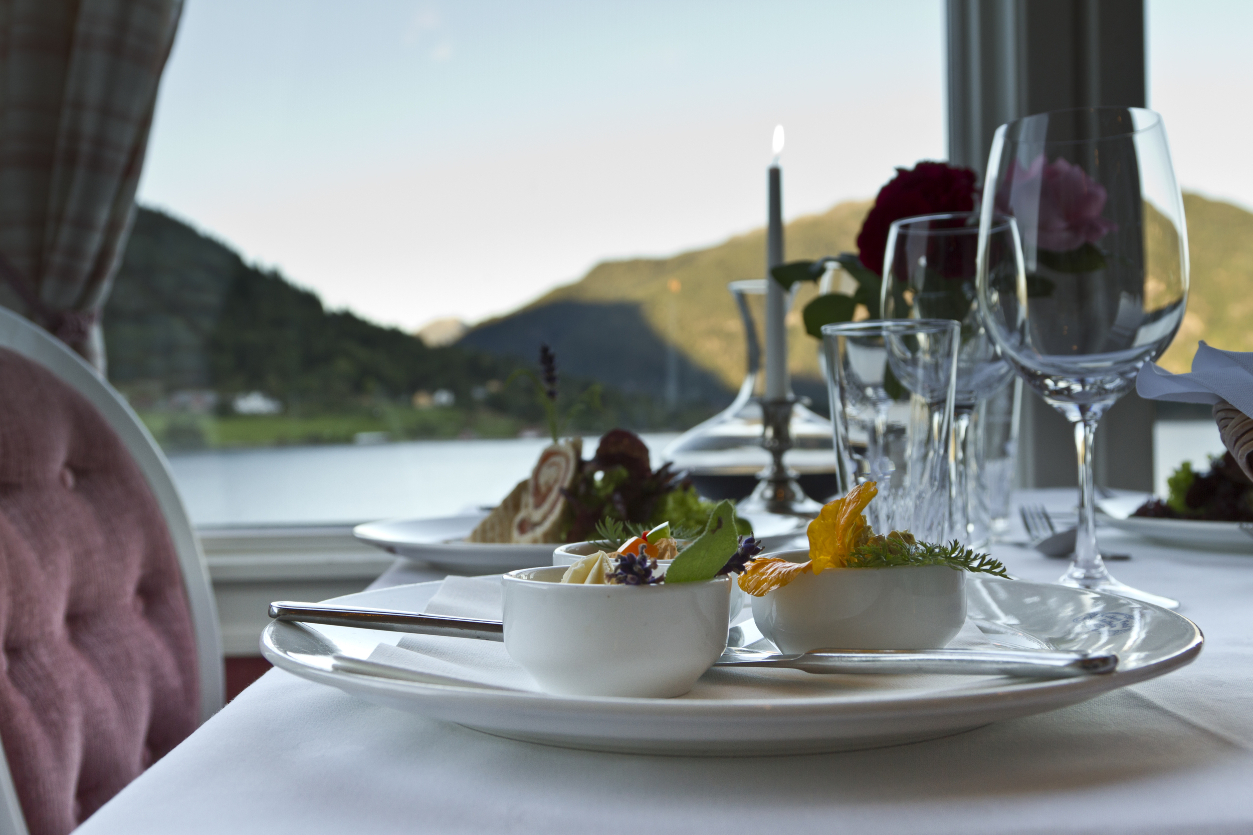 View of the Sognefjord from the restaurant.