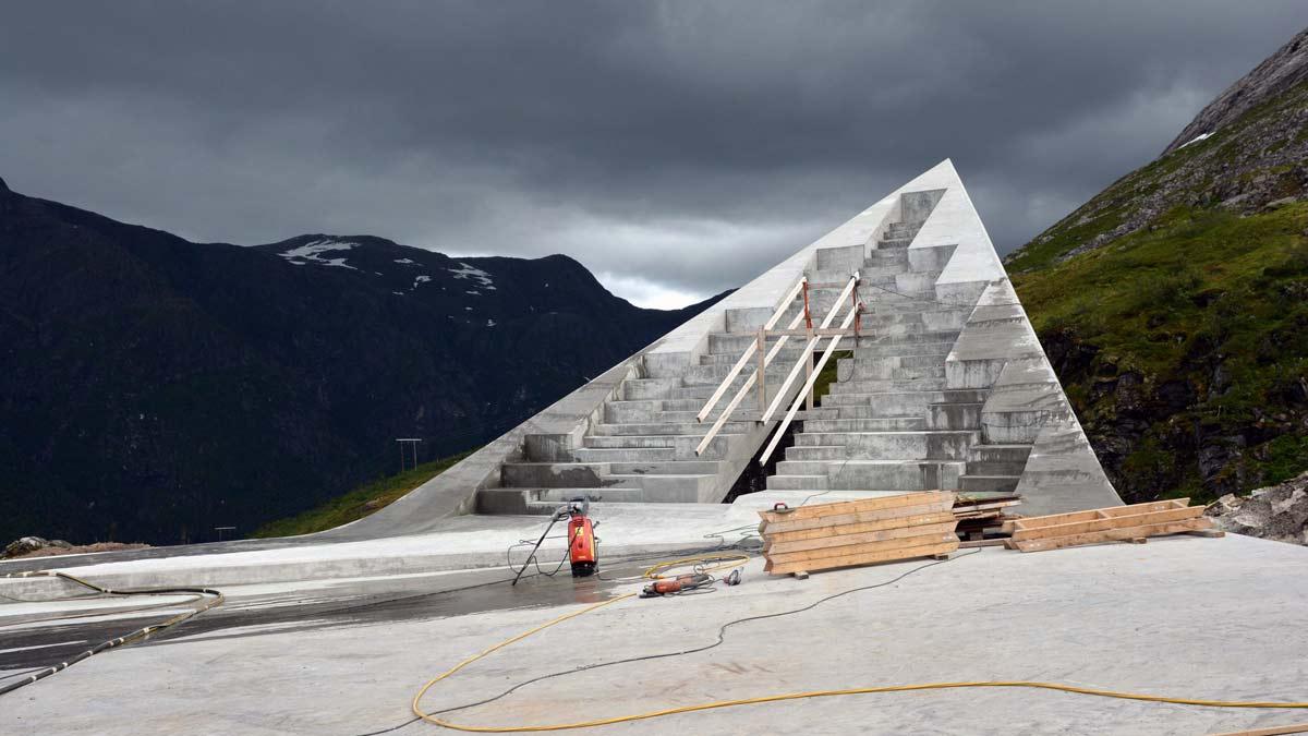 One of the three corners. Photo: Eivind Nygaard, Code AS.