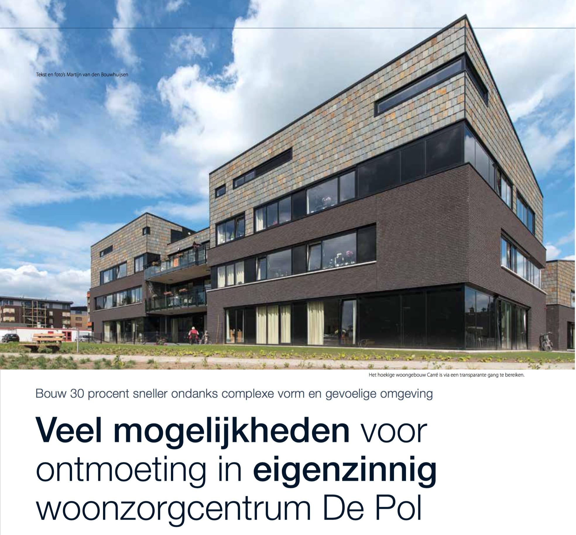 Publicatie over Verpleeghuis De Pol in Bouwen aan de Zorg