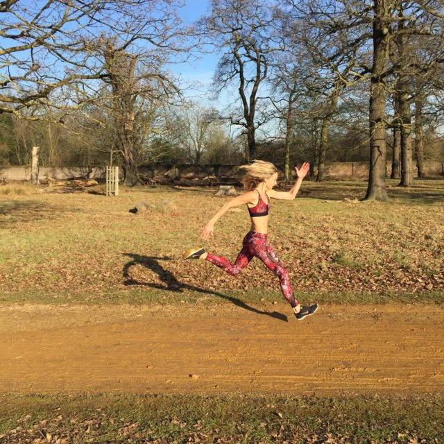 Richmond Park is a favourite running spot for Sam