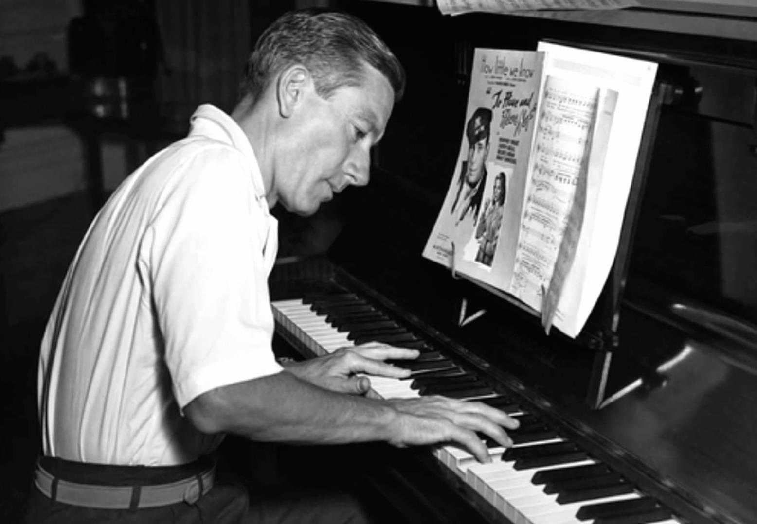 Hoagy Carmichael at the piano.