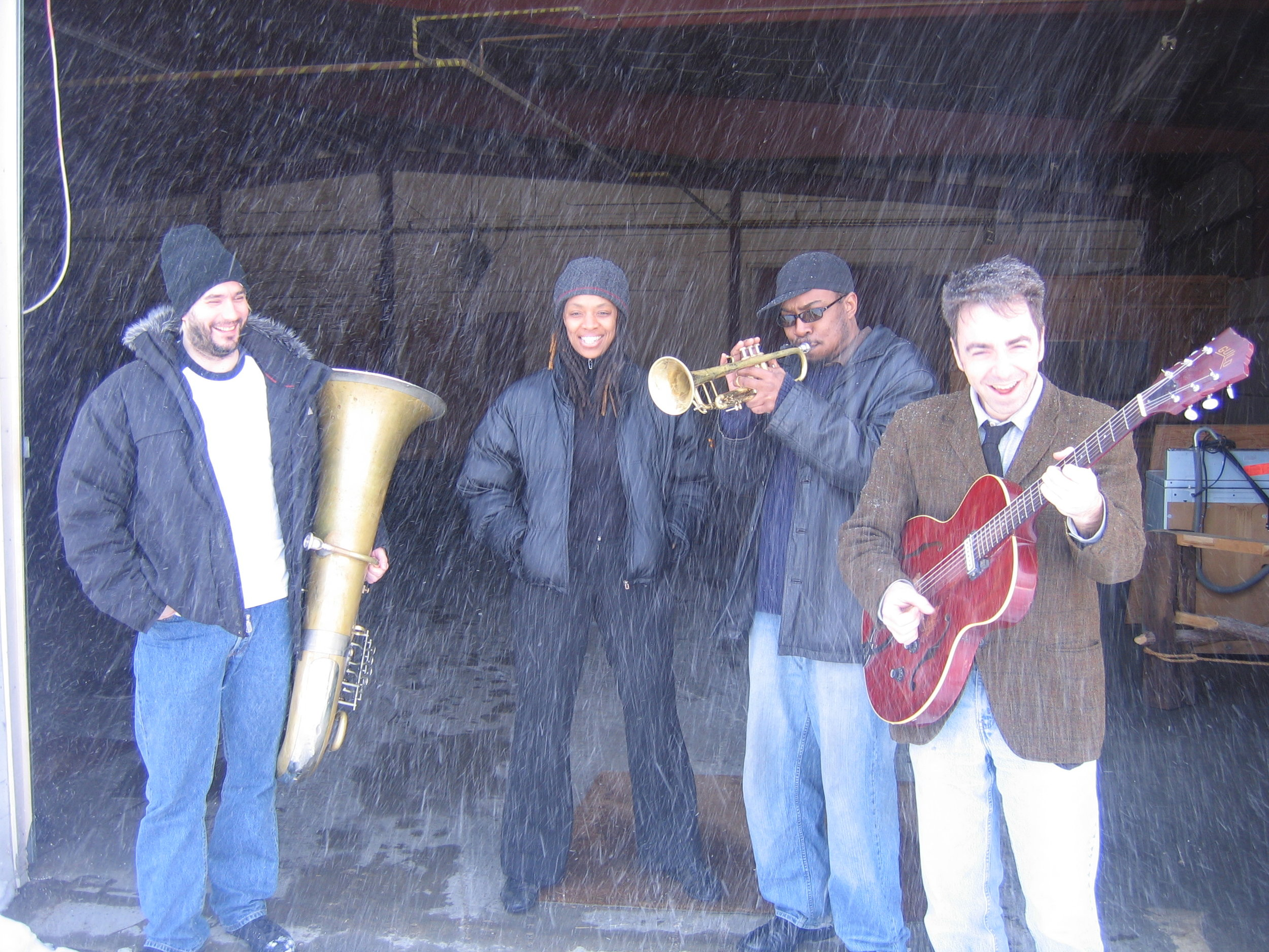 With (L to R) Ron Caswell, Mazz Swift, Kevin Louis at The Vermont Arts Exchange. Photo by Matthew Perry