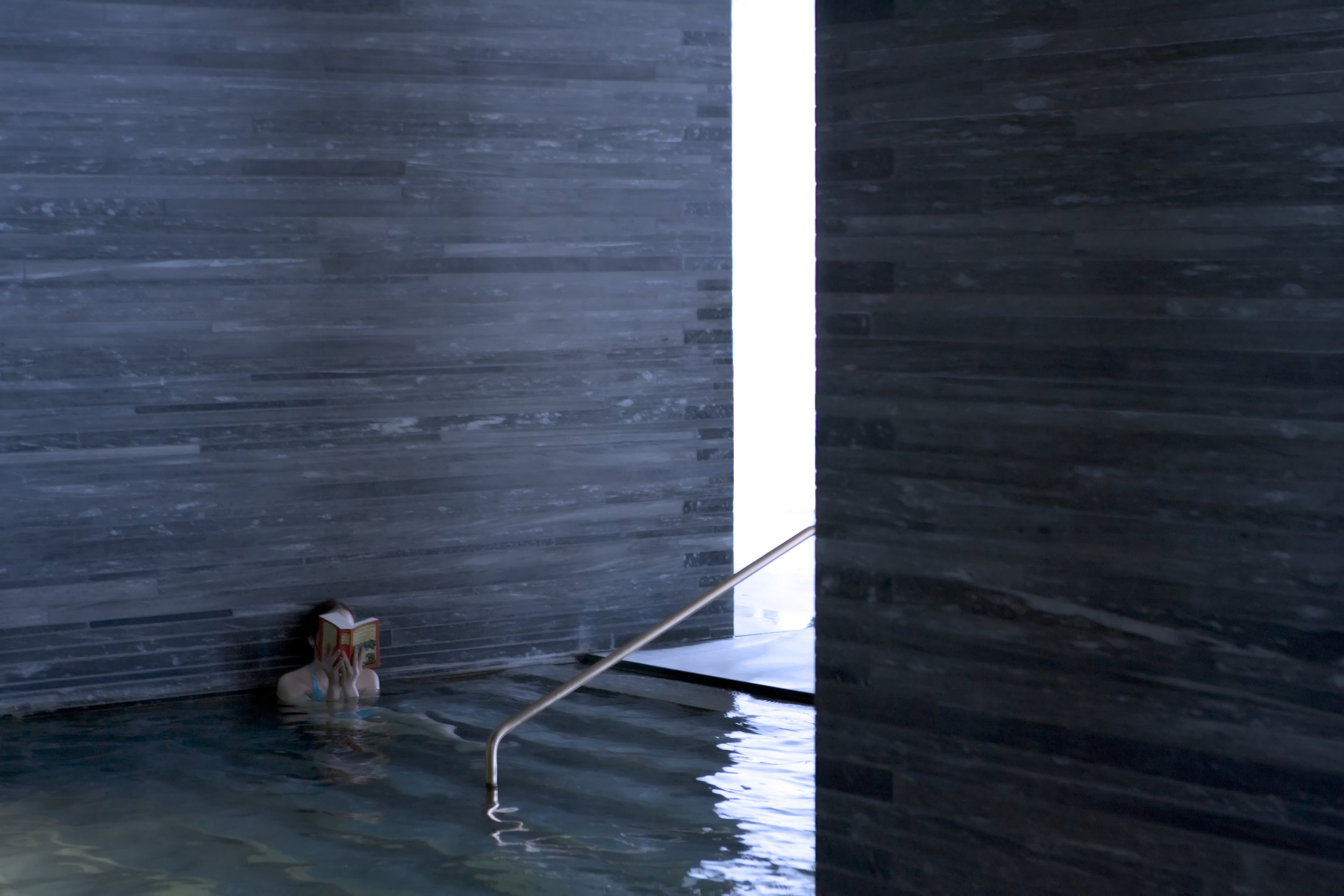 Thermal baths in Vals, by Peter Zumthor. Photograph: Fernando Guerra.