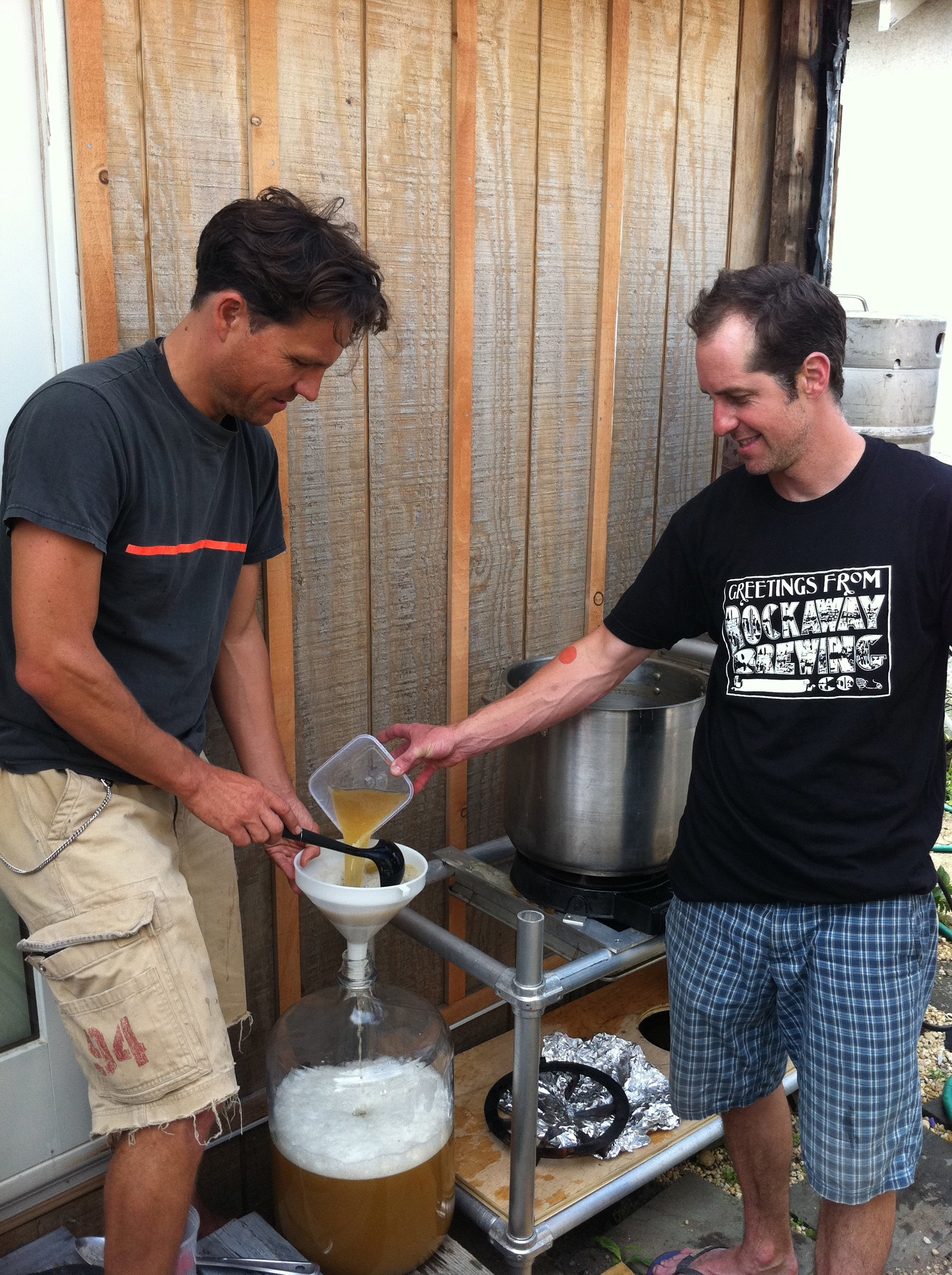 Brewing in our backyards in Rockaway.