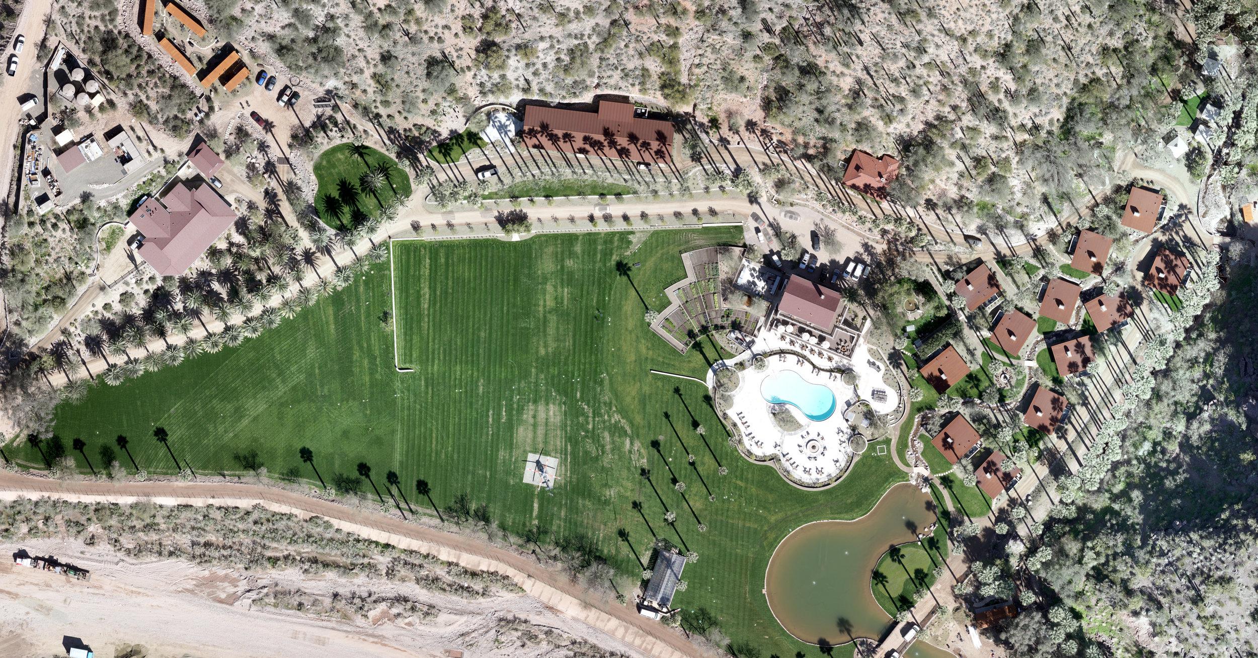 Castle hot springs from 600 feet above. Taken with the Wingtra VTOL unmanned aerial system and processed with Pix4D.