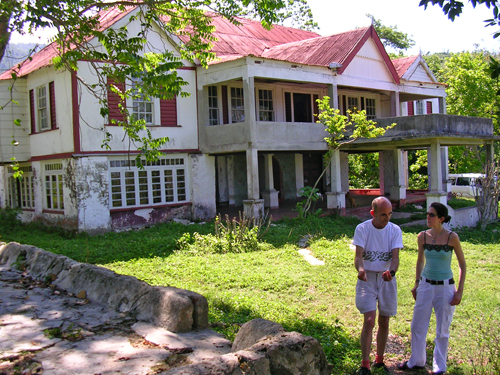 Tiverton House Founder  Sasha Davidson and Nicole Salotti exploring an old pimento plantation outside Bluefields, May 2005.
