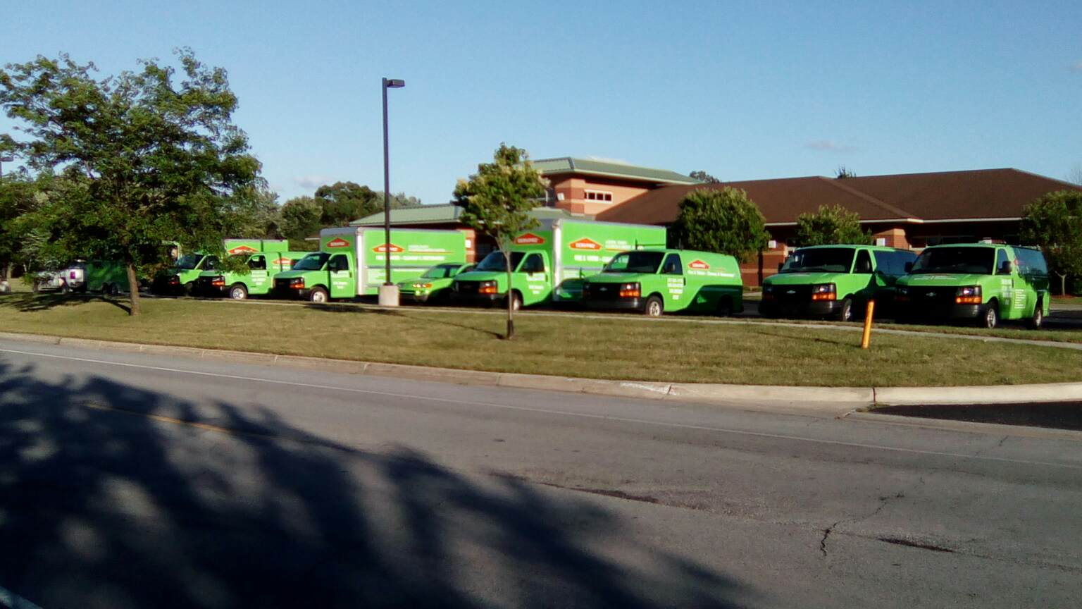 ServePro sent 7 vans for the demolition work at the Bellows Home