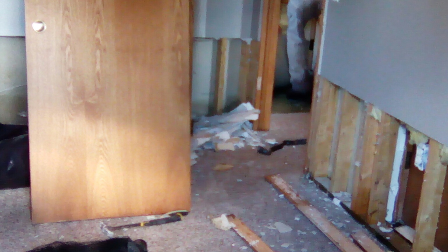 The drywall, carpet, furniture and more all need to be replaced