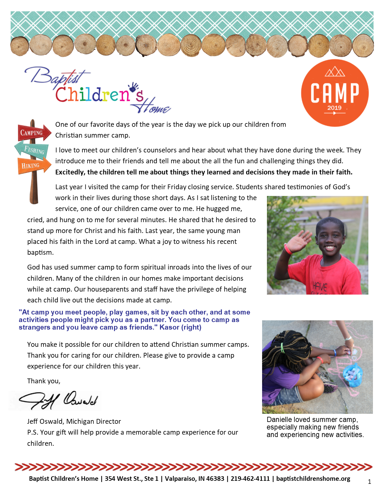 Read more from our Camp newsletter -