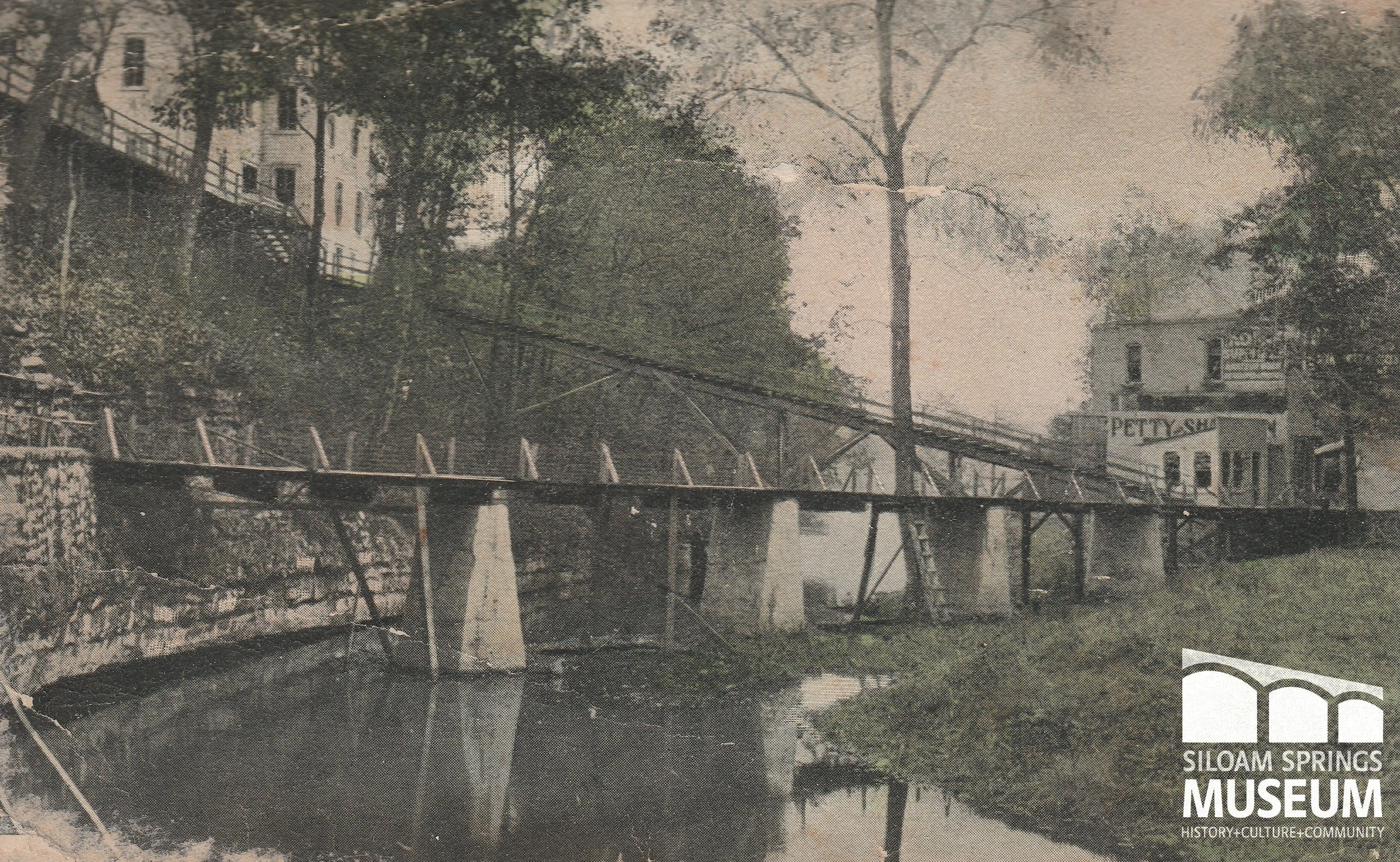 Two foot bridges Twin Springs, 1928.jpg