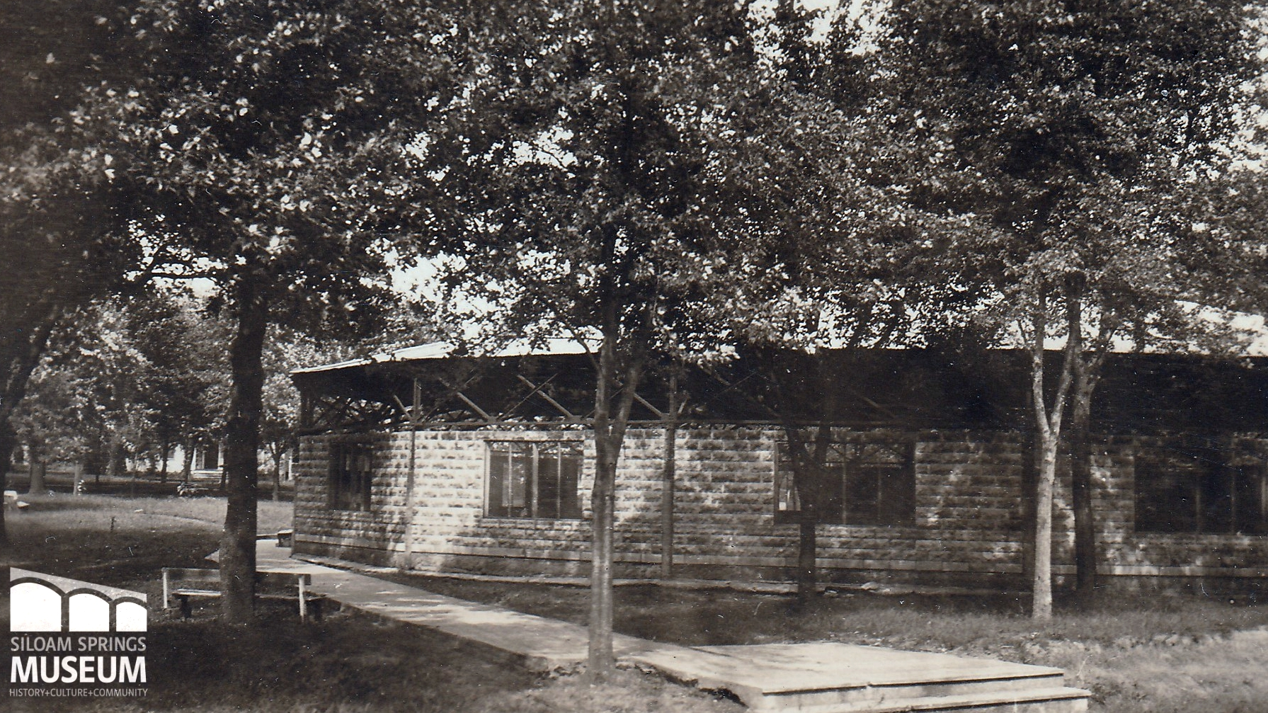 This photo, taken in the 1920's, depicts the 1907 Chautauqua building.