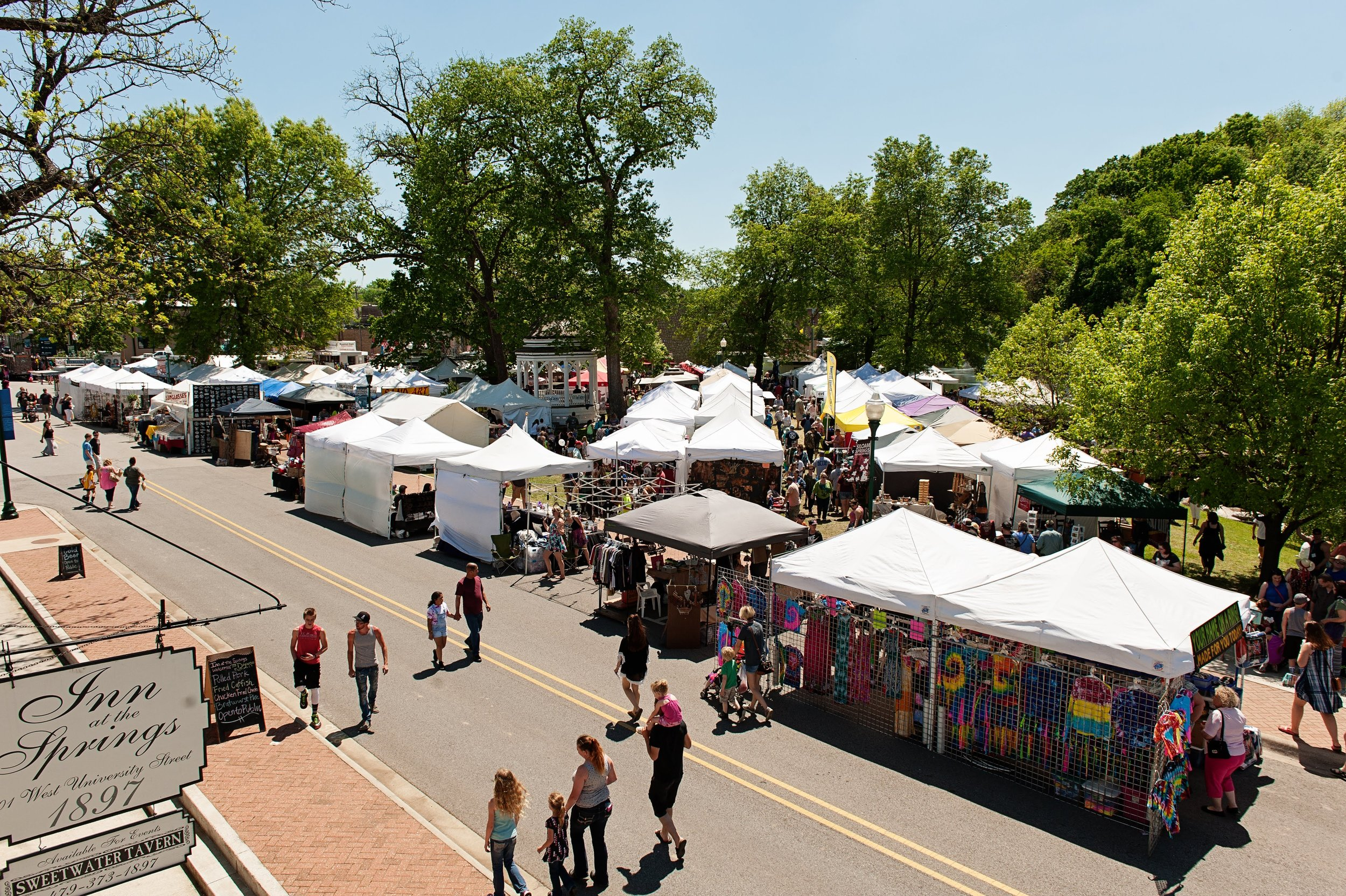 Today, the Dogwood Festival receives more than 30,000 visitors. Photo: Siloam Springs Chamber of Commerce