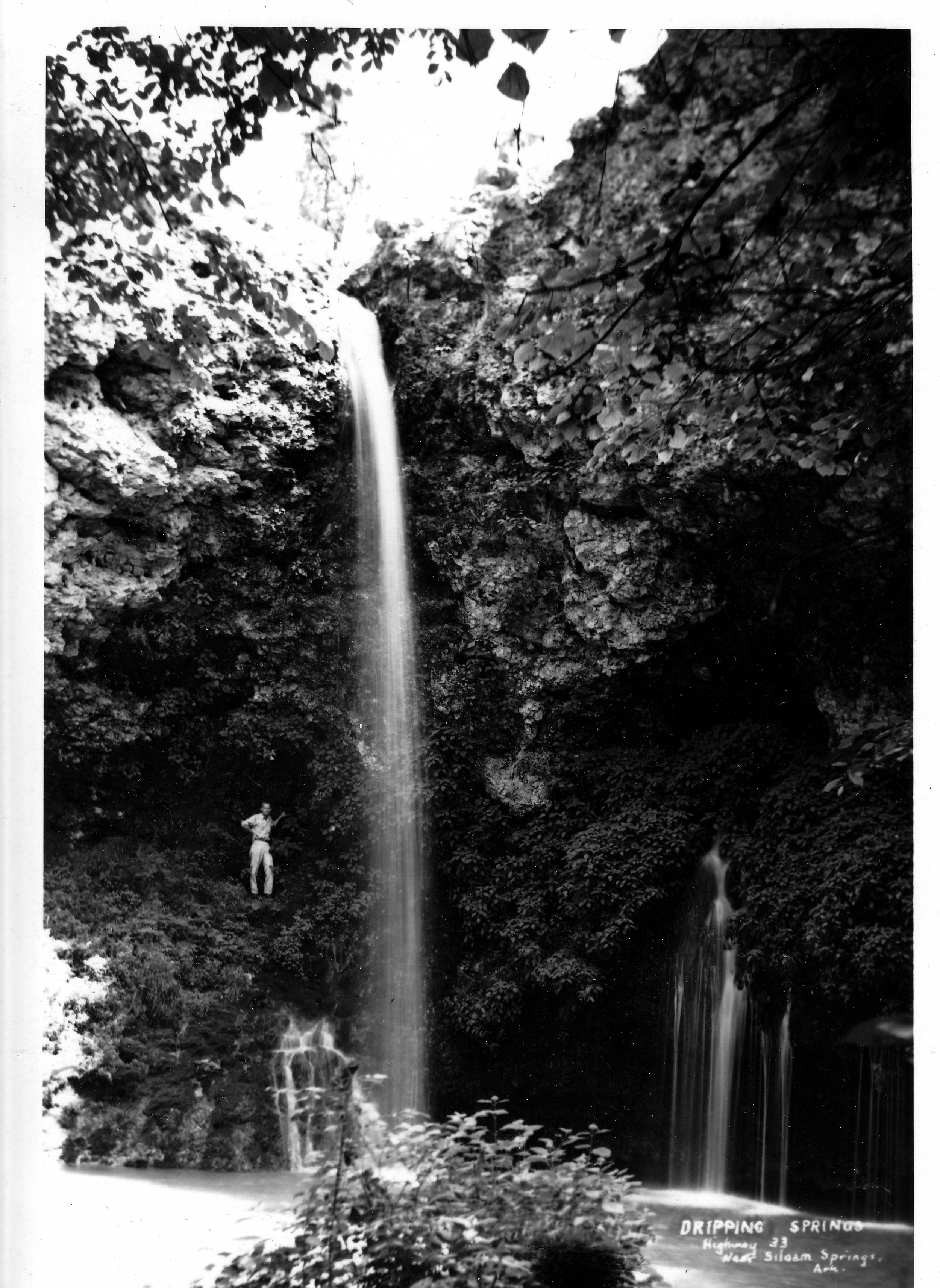 Today, the falls look similar to this photo, but to preserve the area, hikers are no longer allowed to climb the bluffs.