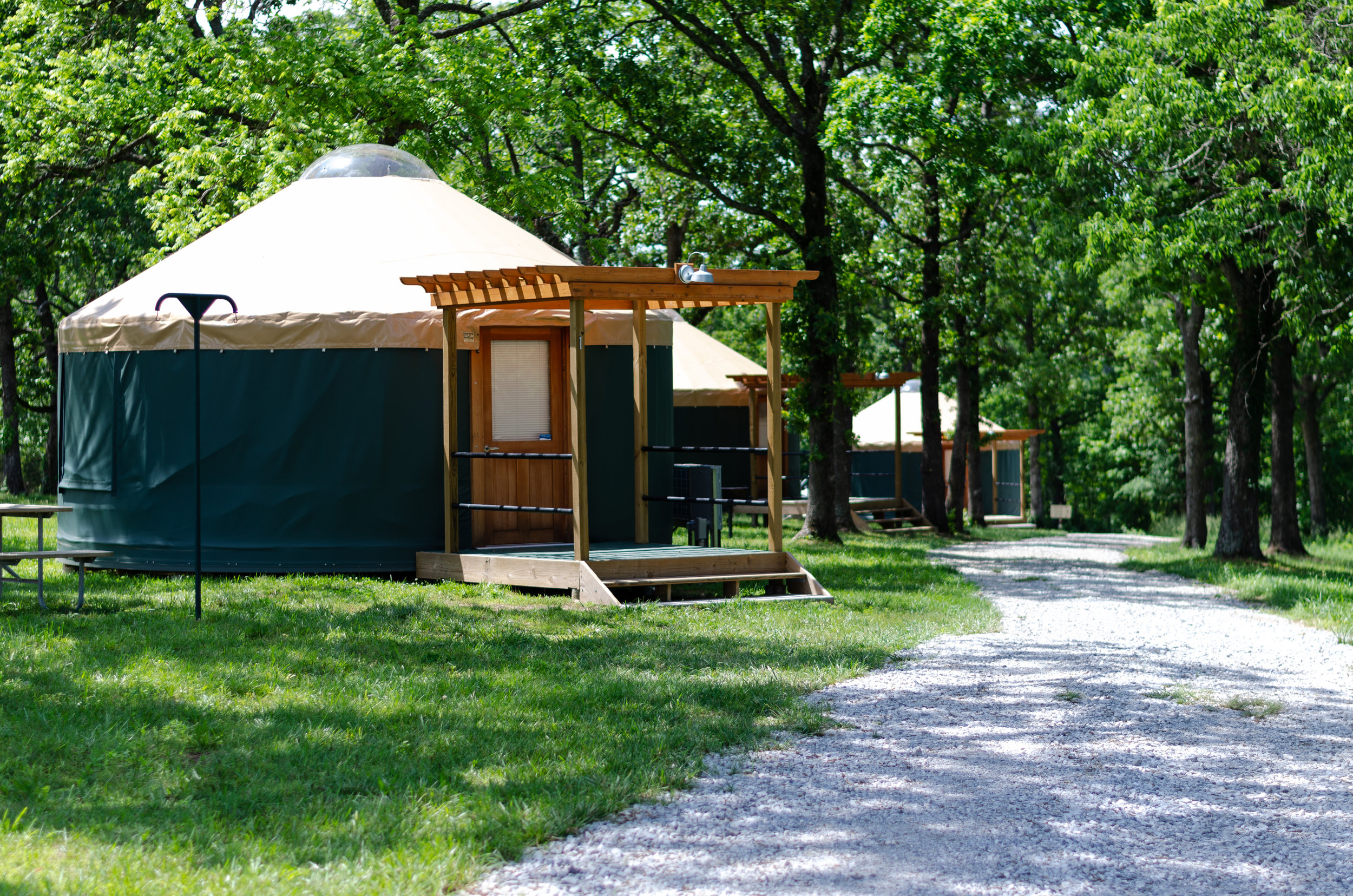 The park opened several yurts last year.