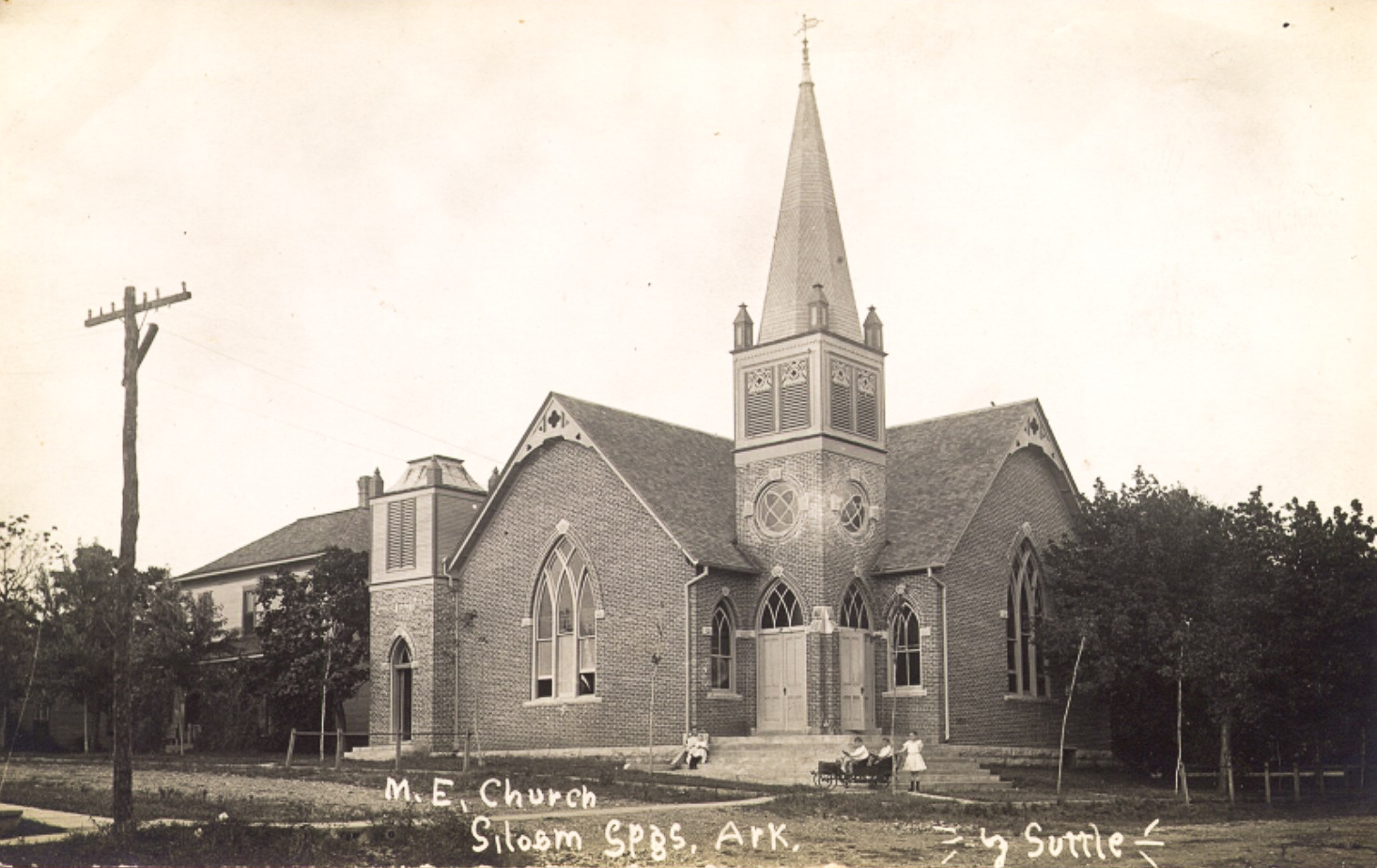 North Methodist Episcopal Church. This building still stands at the corner of North Maxwell St. and University St.
