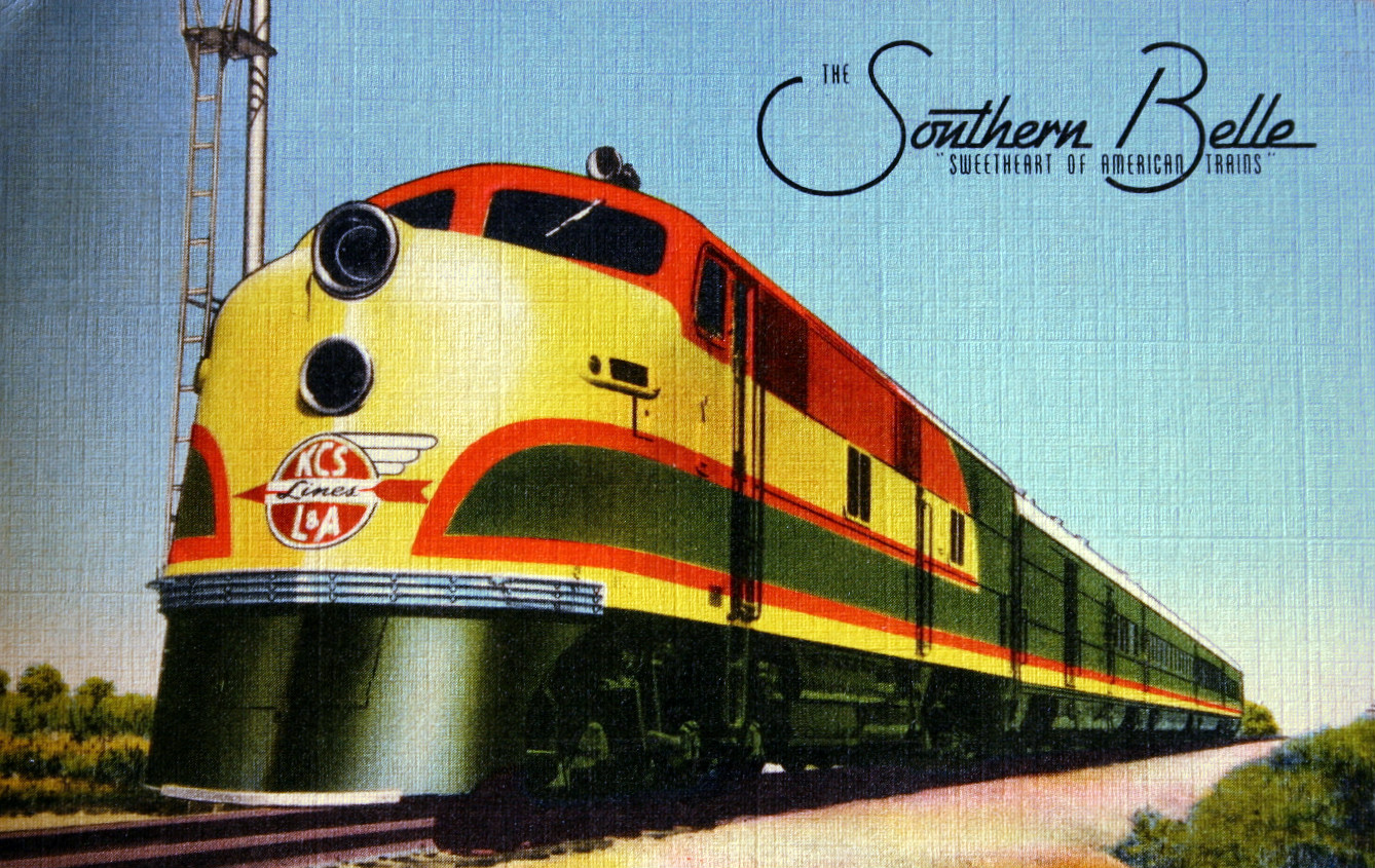 A postcard depiction of The Southern Belle. Photo from Wikimedia Commons.