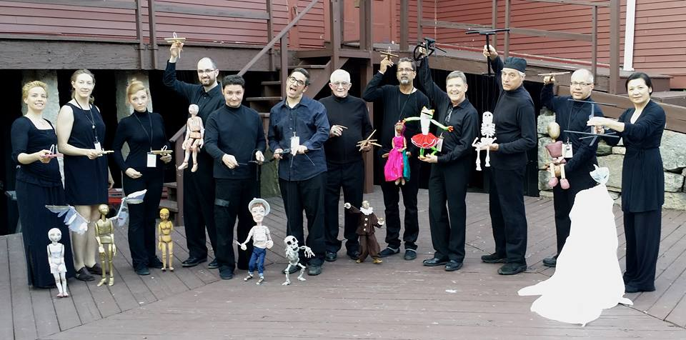 Jim and Phillip's marionette class, Eugene O'Neill Theater Center