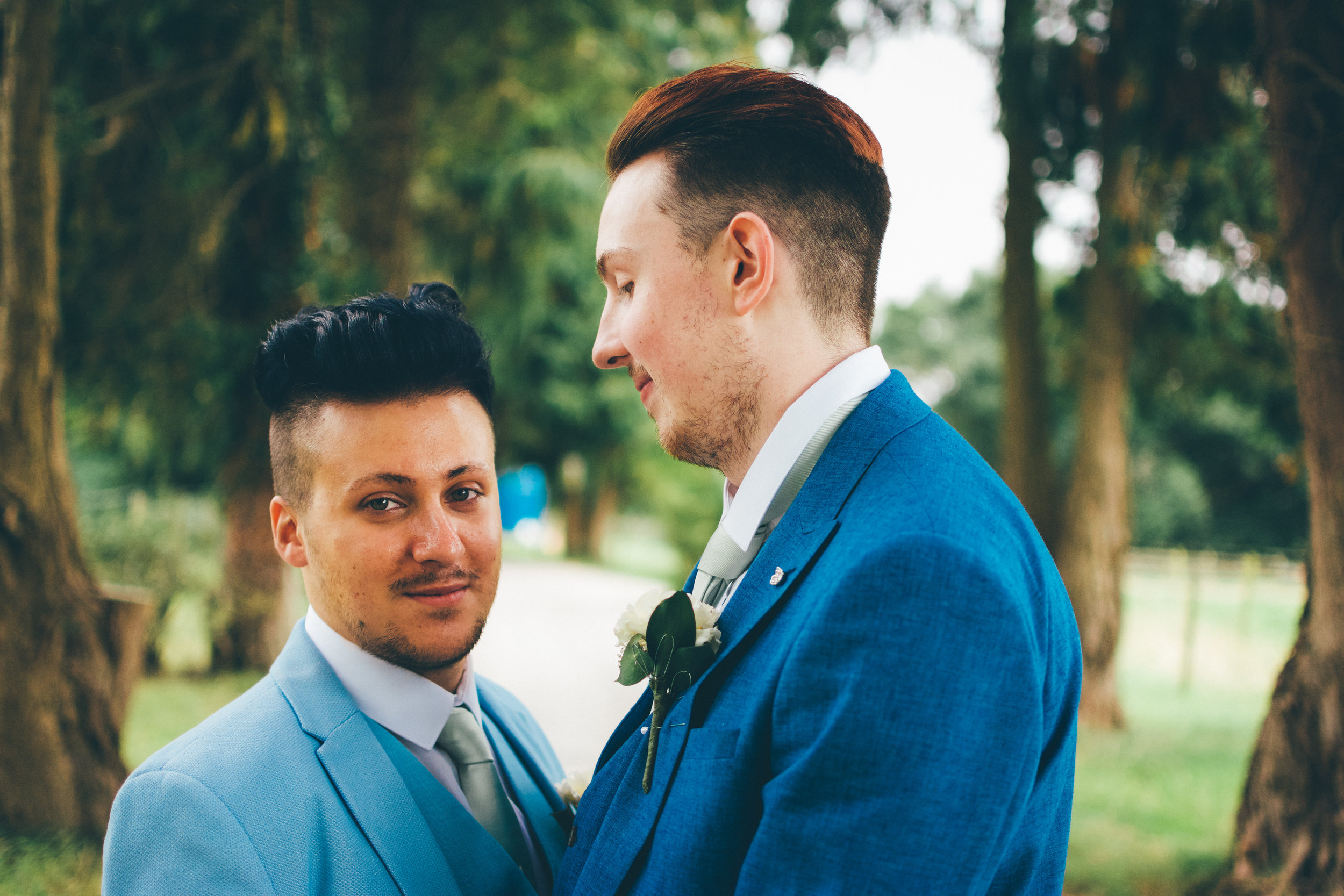 """- """"Richard did our wedding! His first LGBT Wedding and we were honoured to have him picture our day! He captured every element we wanted and more! And we have developed an amazing friendship with him and the company too! Book this man! You'd be an idiot if you didn't.""""- Jason+George, August 2017"""