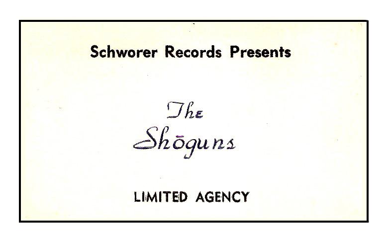 The Shoguns' business card