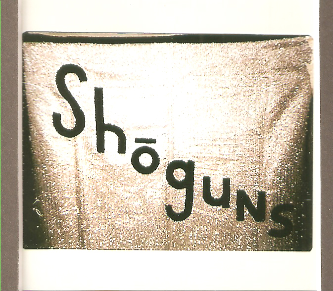 The Shoguns' banner from the 60s.