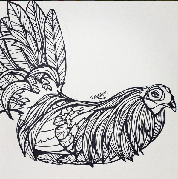 Rooster Illustration