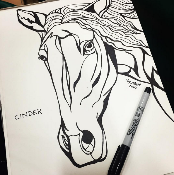 Cinder Horse Illustration