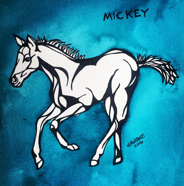 Mickey Horse Illustration