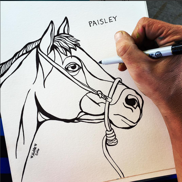 Paisley Horse Illustration