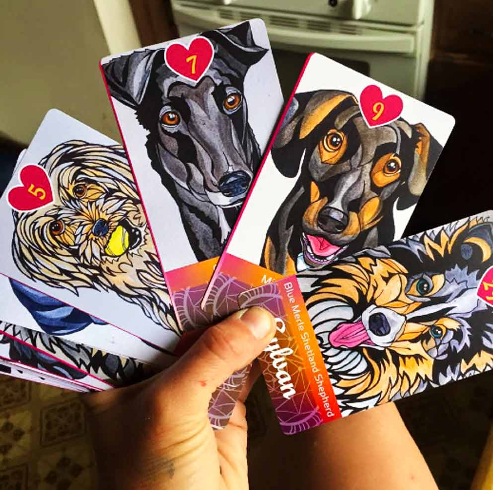Click on the Messages from the Dogs cards to purchase this oracle deck!