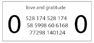 Use this frequency label to amplify the effects of the Assisting Frequencies:   Print out this label (or hand-draw it) and either 1. affix it, numbers-facing-in, to a bottle of water for 6 hours or 2. set cleansed crystals on top for a few hours to charge.
