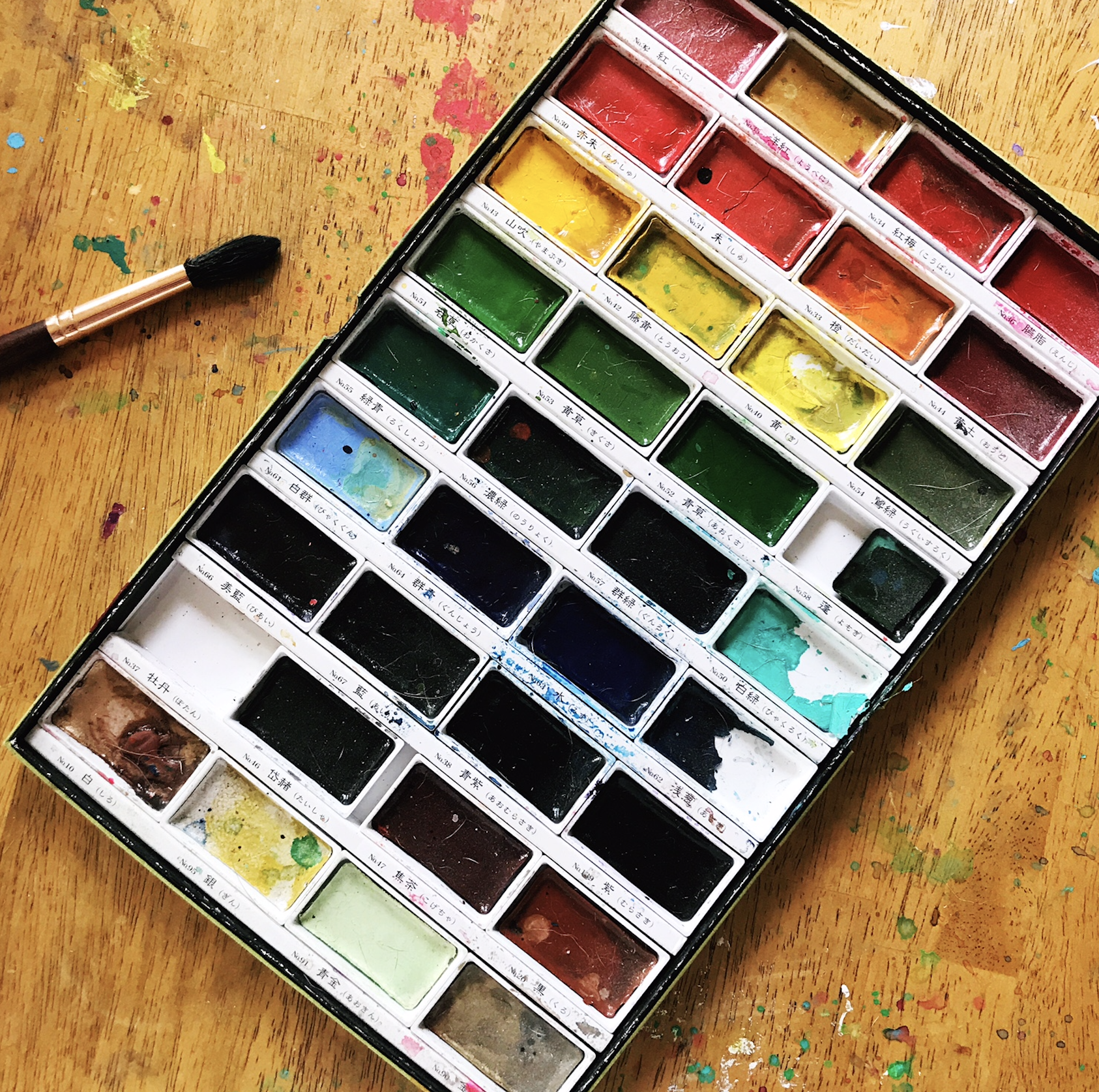Lots of color for a relatively small investment: my  Gansai Tambi watercolors !