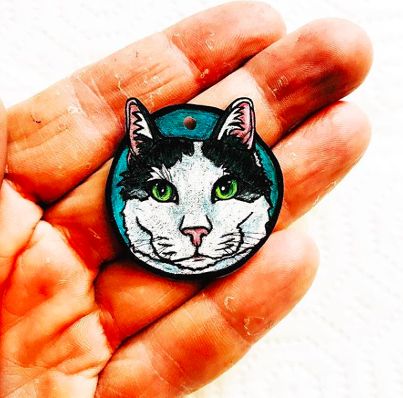 Cat Pet Portrait Charm
