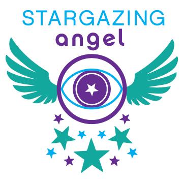Stargazing Angel Intuitive Logo Design Branding