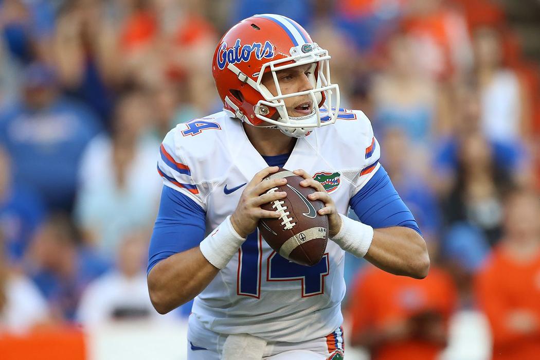 Florida's new starting quarterback, Luke Del Rio.