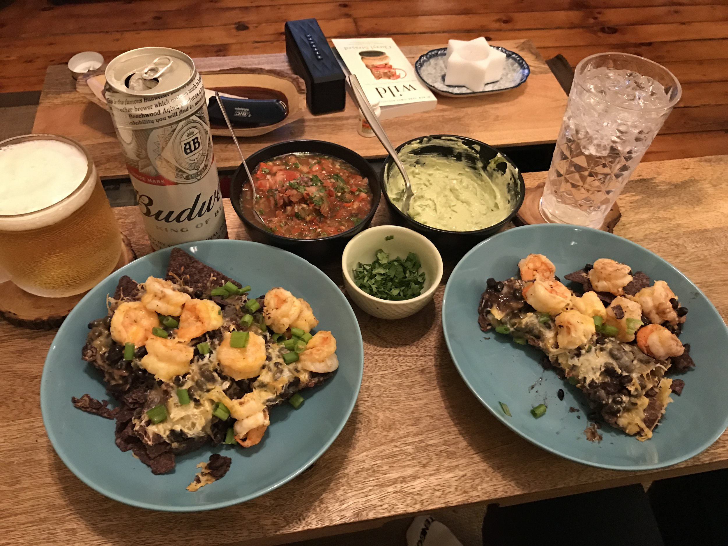 Individual portions of nachos so everyone can use however much of the toppings they want. Side Note: Patrick haynes may have consulted on this recipe.